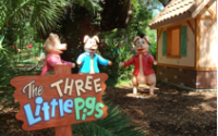 The Three Little Pigs debut in Storyland