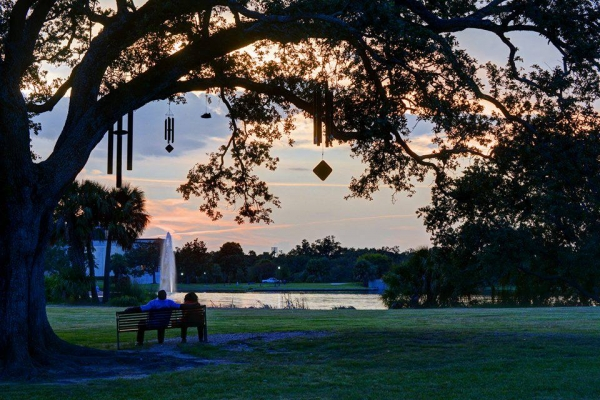Big Lake at dusk