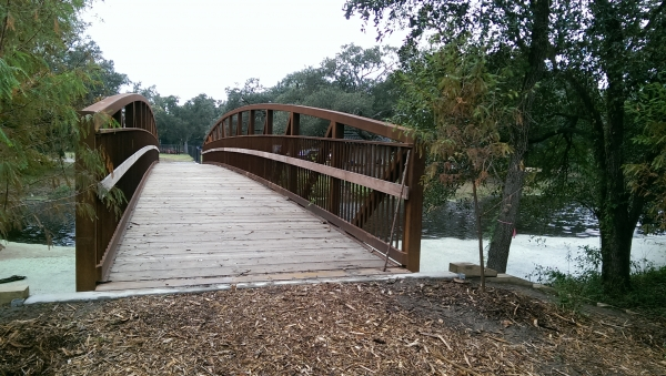The Foot Bridge at the Entrance to Couturie Forest.