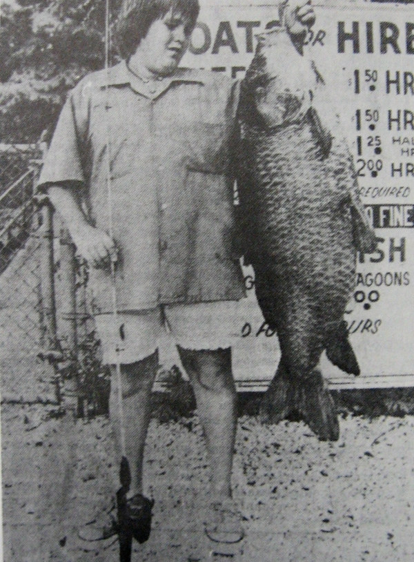 Tommy Descant with  52 lb. Buffalo fish.