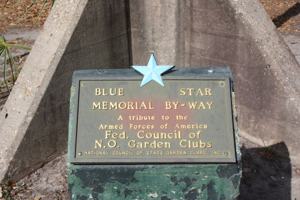 Blue Star Memorial plaque and statue