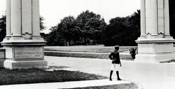 Man at the front of the Park Date unknown