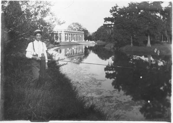 Man in City Park - Date Unknown